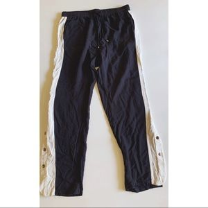 Side button snap track pants